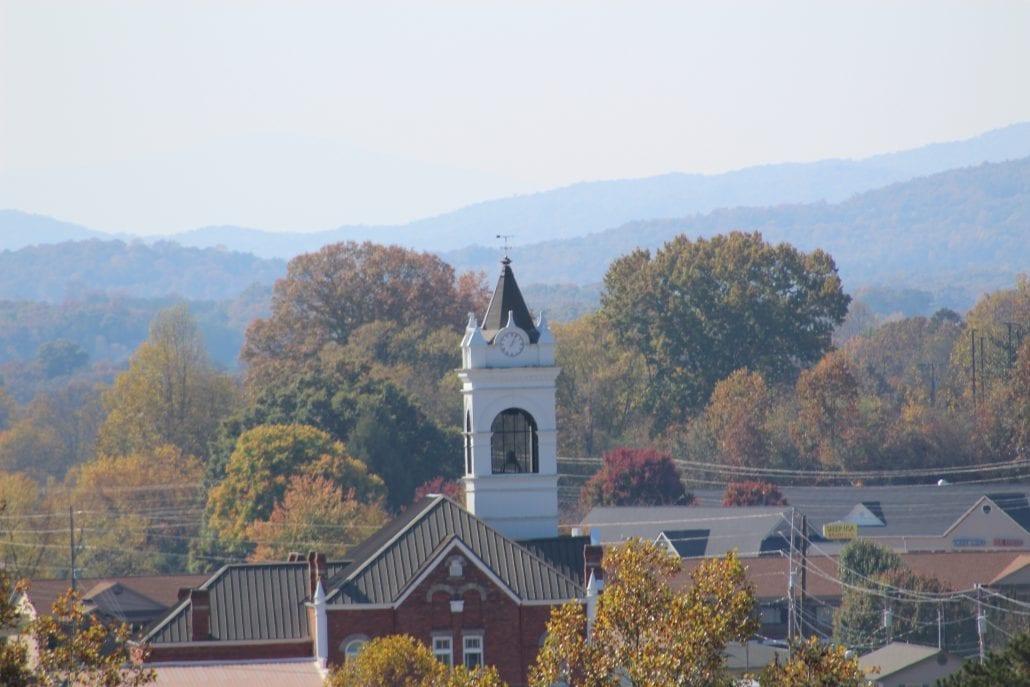 Blairsville Georgia Beautiful Clock Tower  Dickey Mccay Insurance