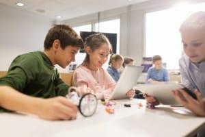 Kids in georgia school working with STEM
